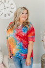 Camiseta multicolor tie-dye talla grande