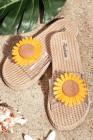 Mode Sonnenblumen gewebte Sandalen