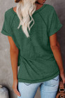Camiseta verde con cuello redondo jaspeado