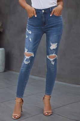 جينز أزرق ممزق