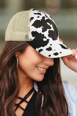 قبعة بيسبول شبكية على شكل ذيل حصان أسود