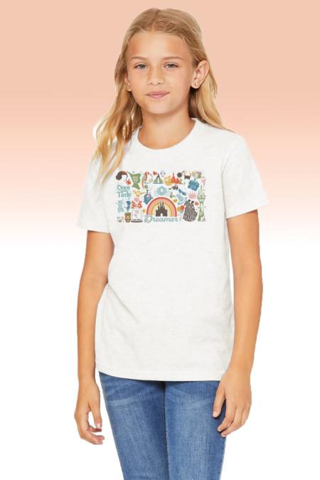 تي شيرت دريمر برسومات بيضاء للأطفال