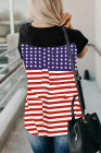 Playera con estampado de bandera de EE. UU.