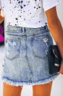 تنورة جينز ممزقة