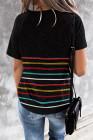Camiseta de rayas de colores negros