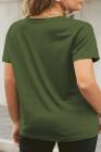 Camiseta con gráfico de labios neón verde de talla grande