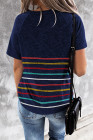 Camiseta de rayas de colores azules