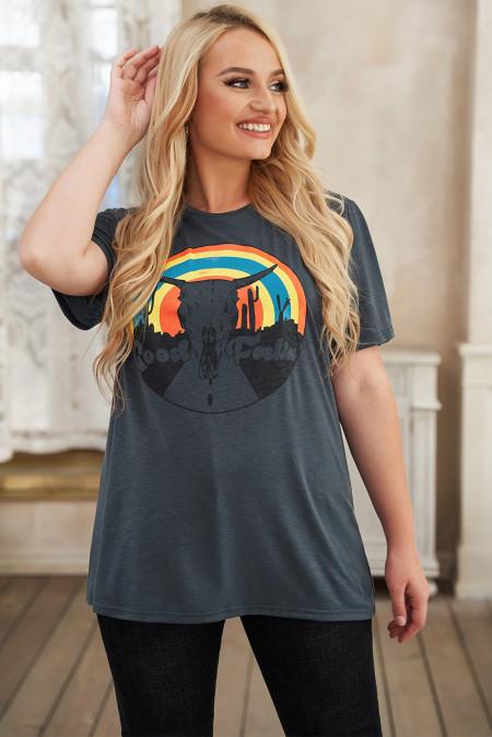 Camiseta Good Feeling Shift Plus Size