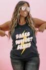 BABES SUPPORT BABES Camiseta sin mangas con estampado desgarrado y talla grande