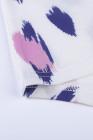 Top de manga corta con cuello en V y estampado animal