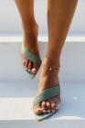 Crisscross Point Toe Sandalen mit offenem Rücken