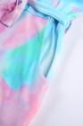 Robe t-shirt à poche multicolore avec ceinture et ceinture