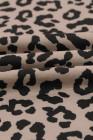 Camiseta de leopardo con cuello redondo y abertura lateral