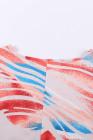 Top Dolman fluido con estampado tie-dye