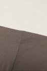 Top de ajuste holgado informal de cuello slash con hombros descubiertos y albaricoque