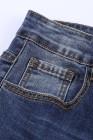 بنطلون جينز بخصر مرتفع بطبعة ليوبارد زهري