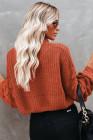 suéter con hombros caídos