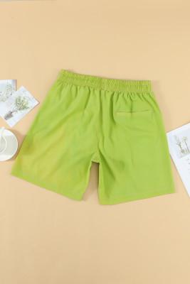 شورت رياضي كاجوال أخضر حراري اللون للرجال