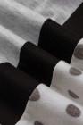T-shirt gris à pois et imprimé colorblock