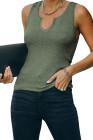 Camiseta sin mangas de punto acanalado