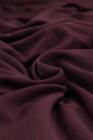 Винно-красная блузка больших размеров в горошек с V-образным вырезом и рукавами-фонариками