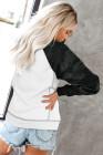 Weiße Langarm-Sweatshirts mit Camouflage-Print