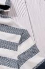 Толстовка с капюшоном и кулиской белого цвета с цветными блоками
