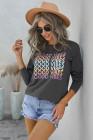 Серый свитшот-пуловер с графическим рисунком GOOD VIBES