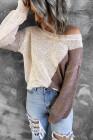 suéter colorblock