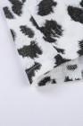 Camiseta de bloqueo de color con estampado de leopardo feroz negra