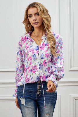 Blusa con estampado floral de Rose Cakewalk