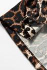 Nuisette à bretelles spaghetti en dentelle à imprimé léopard