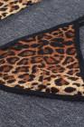 Robe lingerie nuisette imprimé animal léopard