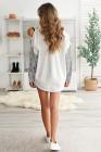 Белая джинсовая куртка с контрастным леопардовым принтом