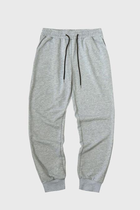 Серые мужские брюки-джоггеры с эластичной резинкой на талии