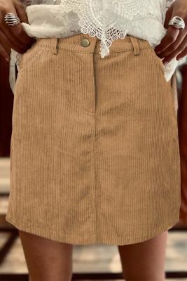 تنورة قصيرة عالية الخصر مع جيوب