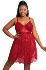 Sujetador rojo Valentine Shade Picardías con encaje floral transparente