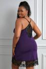 Фиолетовая сорочка Venecia с кружевной отделкой
