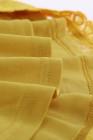 Camiseta sin mangas de encaje amarilla