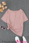Camiseta rosa con bolsillos a presión
