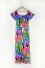 Vestido de sirena de palmeras tropicales de talla grande
