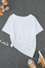Camiseta blanca con bolsillos a presión