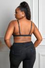 Черный Цветочный Плюс Размер Bralette