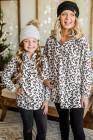 Белая флисовая толстовка на молнии с леопардовым принтом и леопардовым принтом для всей семьи