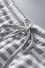 Set da salotto a righe a maniche lunghe grigio