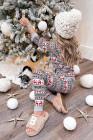 Толстовка с капюшоном и джоггеры с рождественским узором