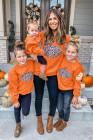 هالوين القرع طباعة مطابقة الوالدين والطفل بنات البلوز البلوز