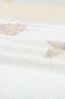 Top de manga larga de punto gofre con estrellas de leopardo blanco