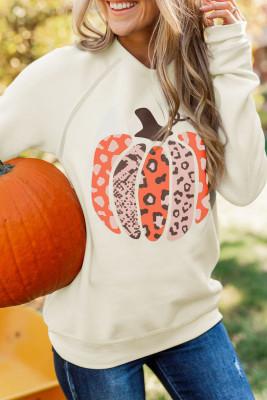 Halloween-Kürbis-Grafik Sweatshirt