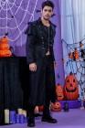 زي الهالوين Steampunk من Tuxedo طويل القوطي الرجالي